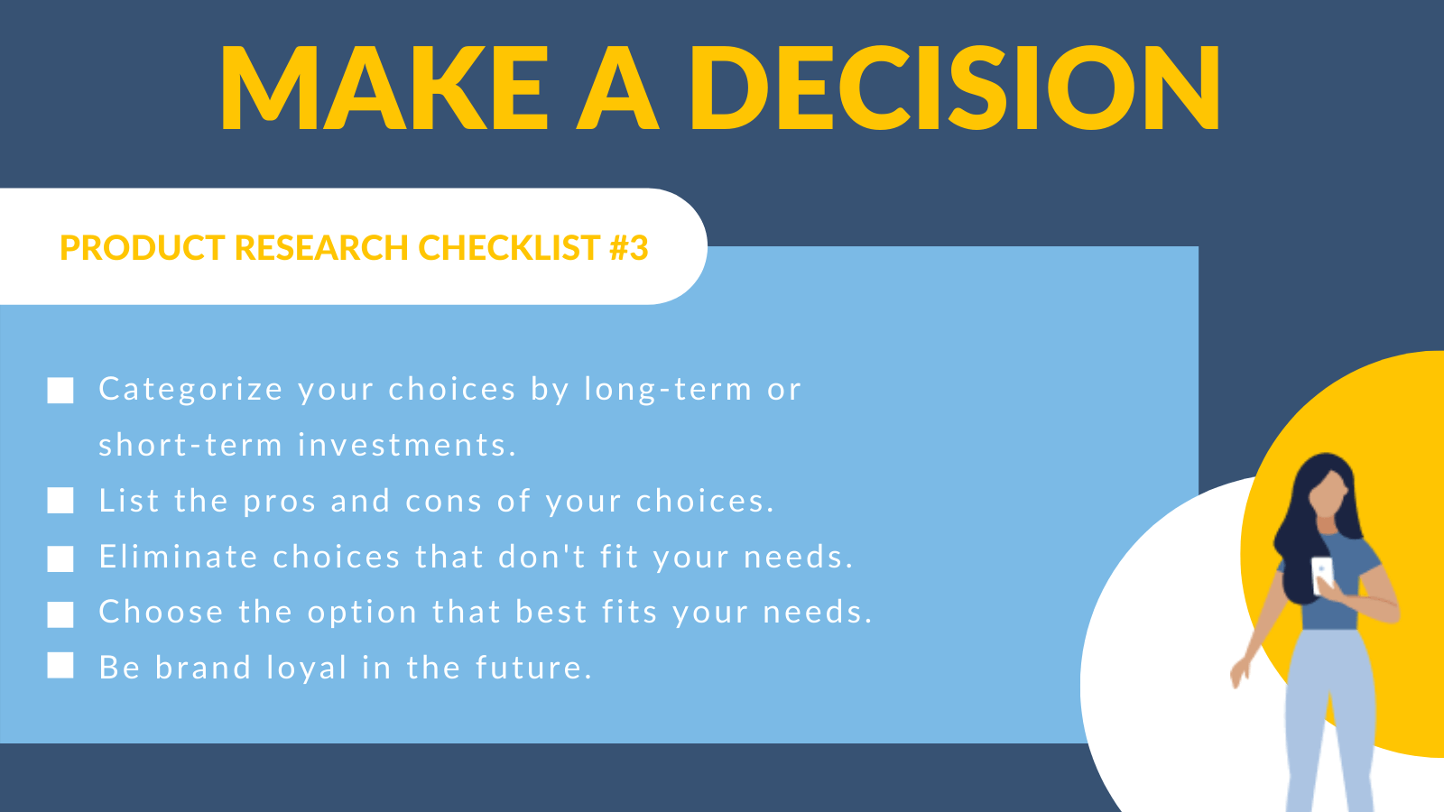 Make a decision checklist