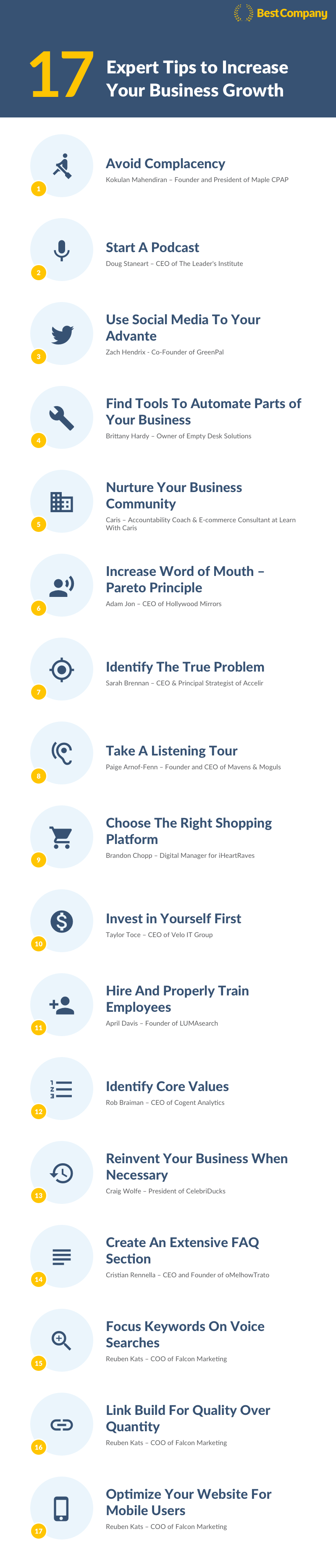 Infographic: 17 Tips to Increase Your Business Growth