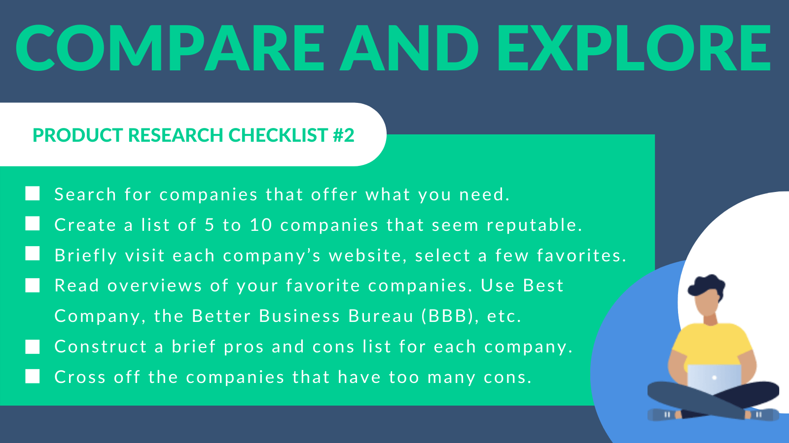 Compare and Explore Checklist