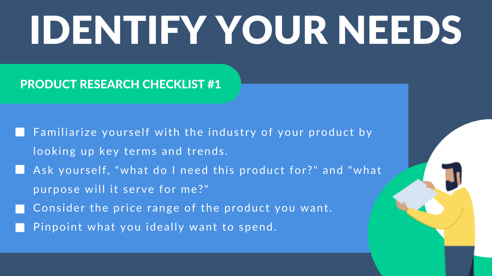 Identify your needs checklist