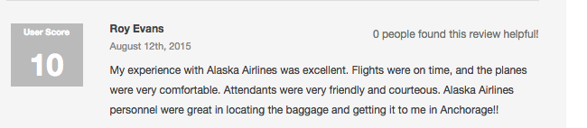 alaska airlines reviews