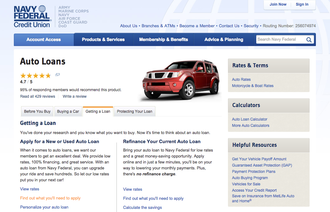 What Are Current Rates For Car Loans From Credit Union